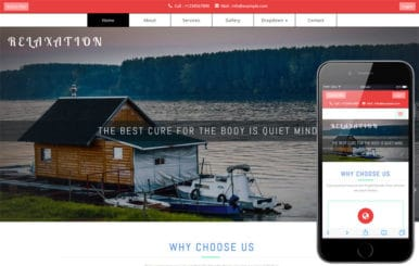 Relaxation a Travel Category Bootstrap Responsive Web Template