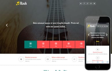 Rock a Entertainment Category Flat Bootstrap Responsive web Template