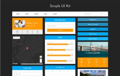 Simple UI Kit a Flat Bootstrap Responsive Web Template
