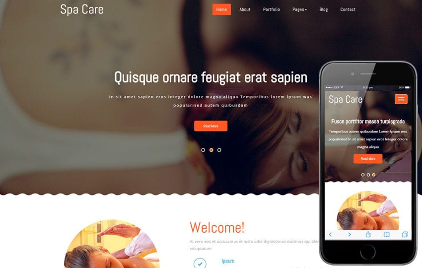 Spa Care a Beauty and Spa Category Flat Bootstrap Responsive Web Template Mobile website template Free