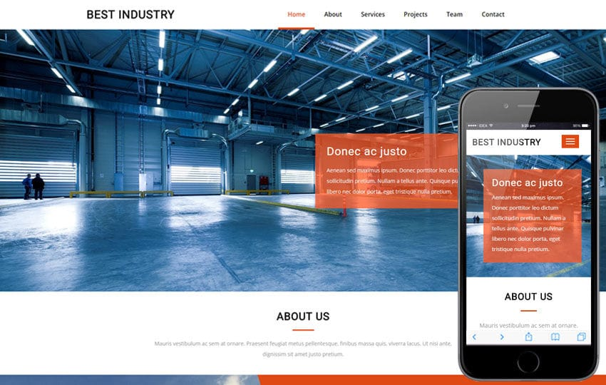 Best Industry an Industrial Flat Bootstrap Responsive Web Template Mobile website template Free