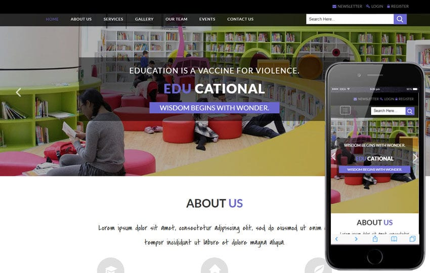 Educational an Education Category Bootstrap Responsive Web Template
