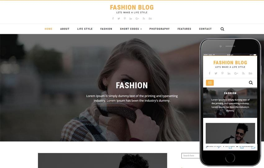 Fashion Blog a Blogging Flat Bootstrap Responsive Web Template