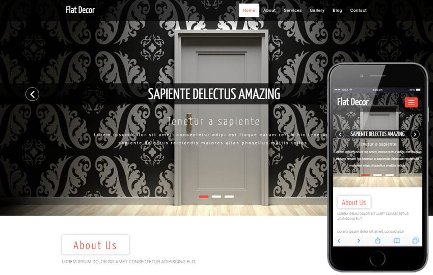 Flat Decor an Interior and Furniture Bootstrap Responsive Web Template