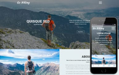 Go Hiking a Sports Category Flat Bootstrap Responsive Web Template