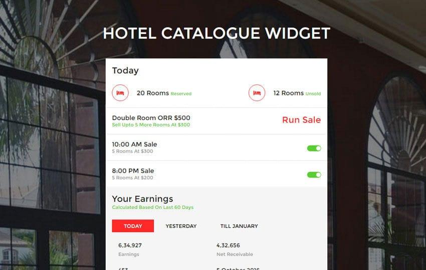 Hotel Catalogue Widget a Flat Responsive Widget Template