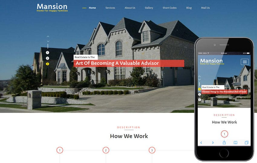 Mansion a Real Estate Category Flat Bootstrap Responsive Web Template