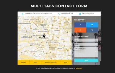 Multi Tabs Contact Form Flat Responsive Widget Template