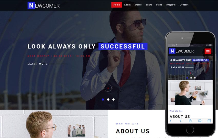 Newcomer a Corporate Business Category Bootstrap Responsive Web Template