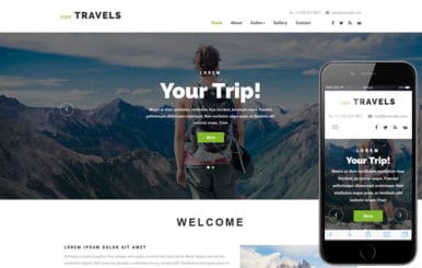 Njoy Travels a Travel Category Bootstrap Responsive Web Template
