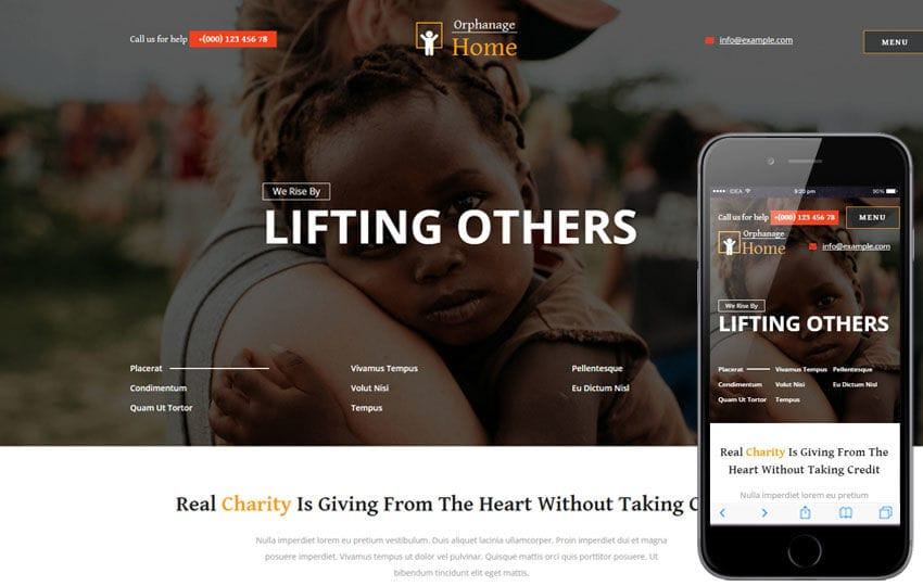 Orphanage Home a Society and People Category Bootstrap Responsive Web Template Mobile website template Free
