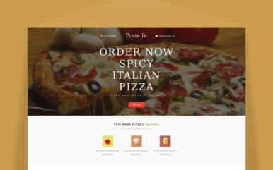 Pizza In a Newsletter Template