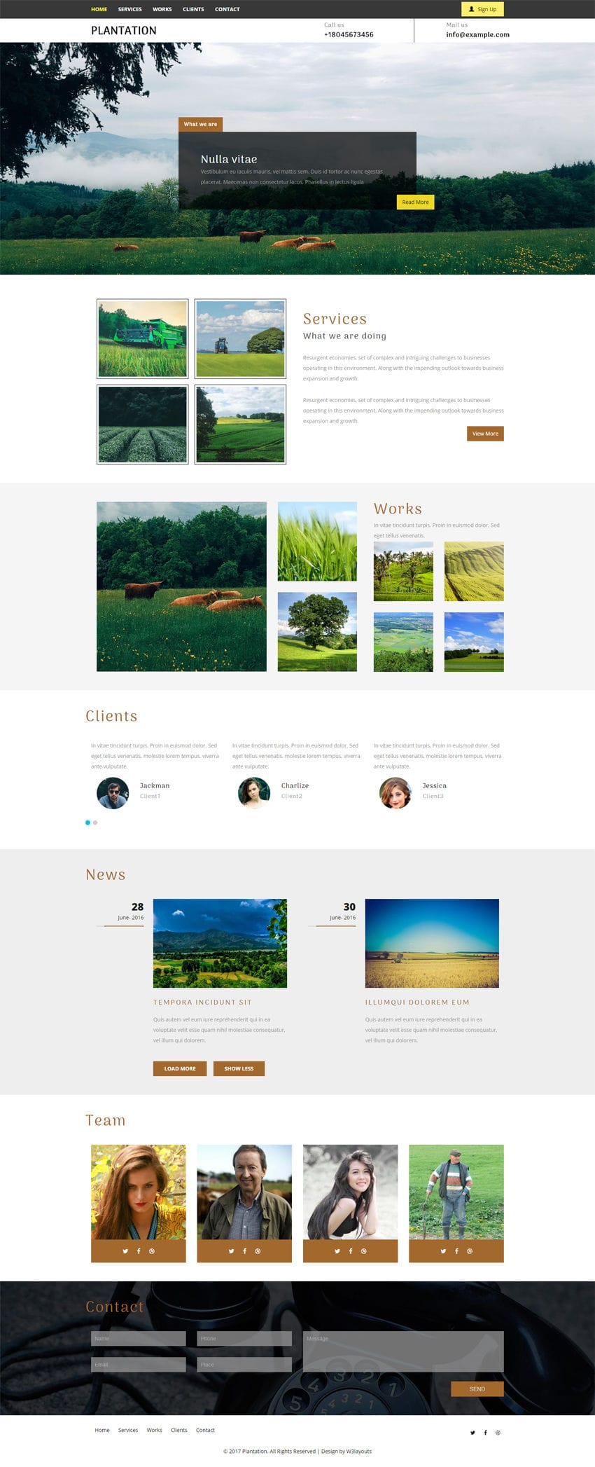 Plantation an Agriculture Category Flat Bootstrap Responsive Web