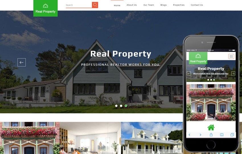 Real Property a Real Estate Category Bootstrap Responsive Web Template Mobile website template Free