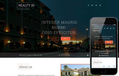 Realty In a Real Estates and Builders Category Bootstrap Responsive Web Template