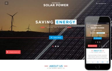 Solar Power an Industrial Category Flat Bootstrap Responsive Web Template