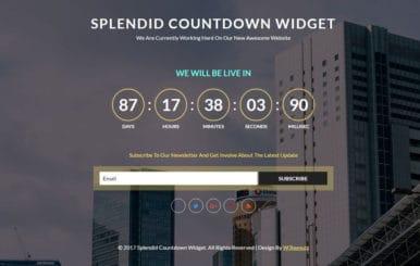 Splendid Countdown Widget Flat Responsive Widget Template