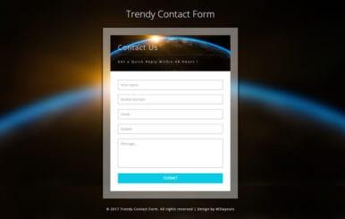 Trendy Contact Form a Responsive Widget Template
