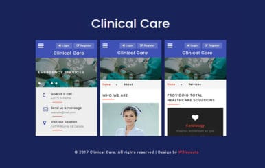 Clinical Care a Mobile App Flat Bootstrap Responsive Web Template