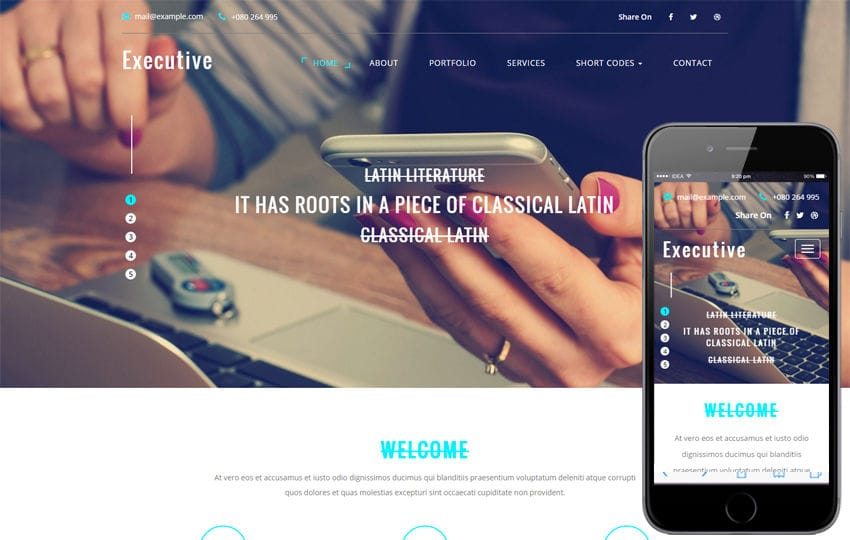 Executive a Corporate Business Flat Bootstrap Responsive Web Template