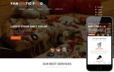 Fantastic Hotels and Restaurants Flat Bootstrap Responsive WebTemplate