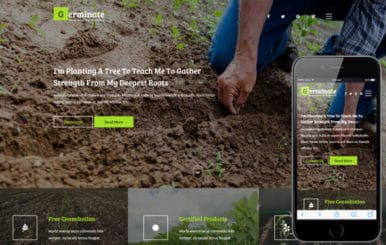 Germinate an Agriculture Flat Bootstrap Responsive Web Template