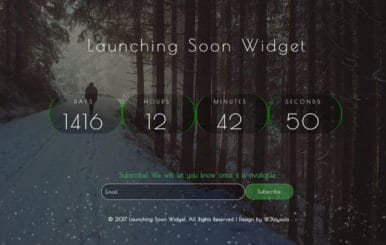 Launching Soon Widget a Flat Responsive Widget Template