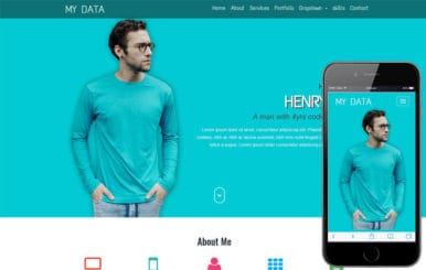 My Data a Personal Category Flat Bootstrap Responsive Web Template