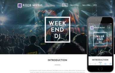 Rock Music an entertainment Flat Bootstrap Responsive Web Template