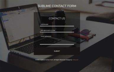 Sublime Contact Form Flat Responsive Widget Template