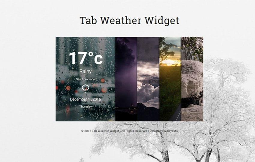 Tab Weather Widget Flat Responsive Widget Template