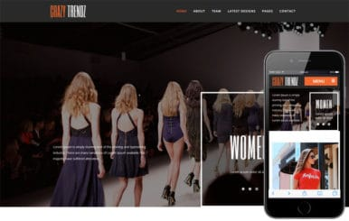 Crazy Trendz a Fashion Category Flat Bootstrap Responsive Web Template