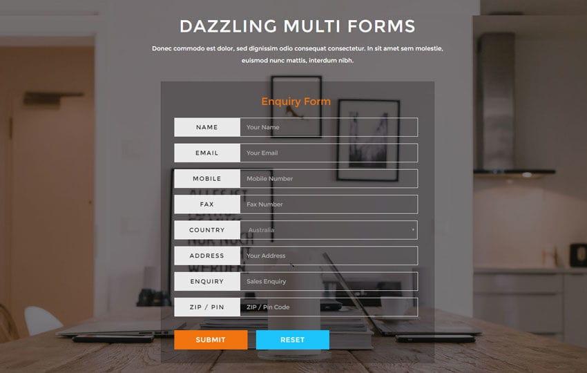 Dazzling Multi Forms Flat Responsive Widget Template