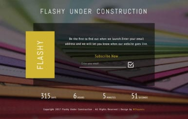 Flashy Under Construction Responsive Widget Template