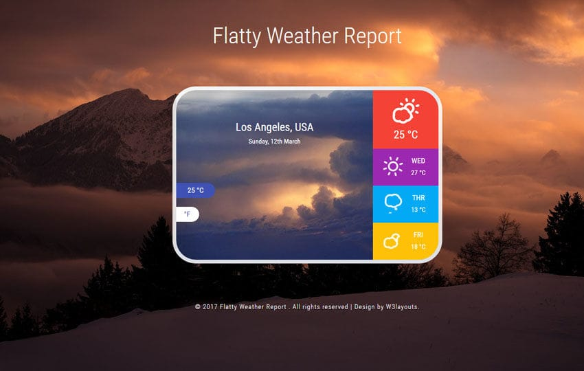 Weather Widgets - w3layouts com