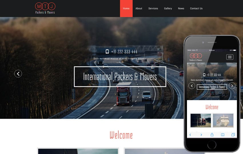 MTJ a Transportation Category Bootstrap Responsive Web Template Mobile website template Free