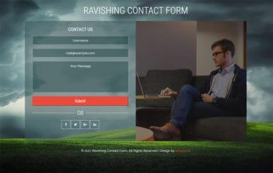 Ravishing Contact Form Flat Responsive Widget Template