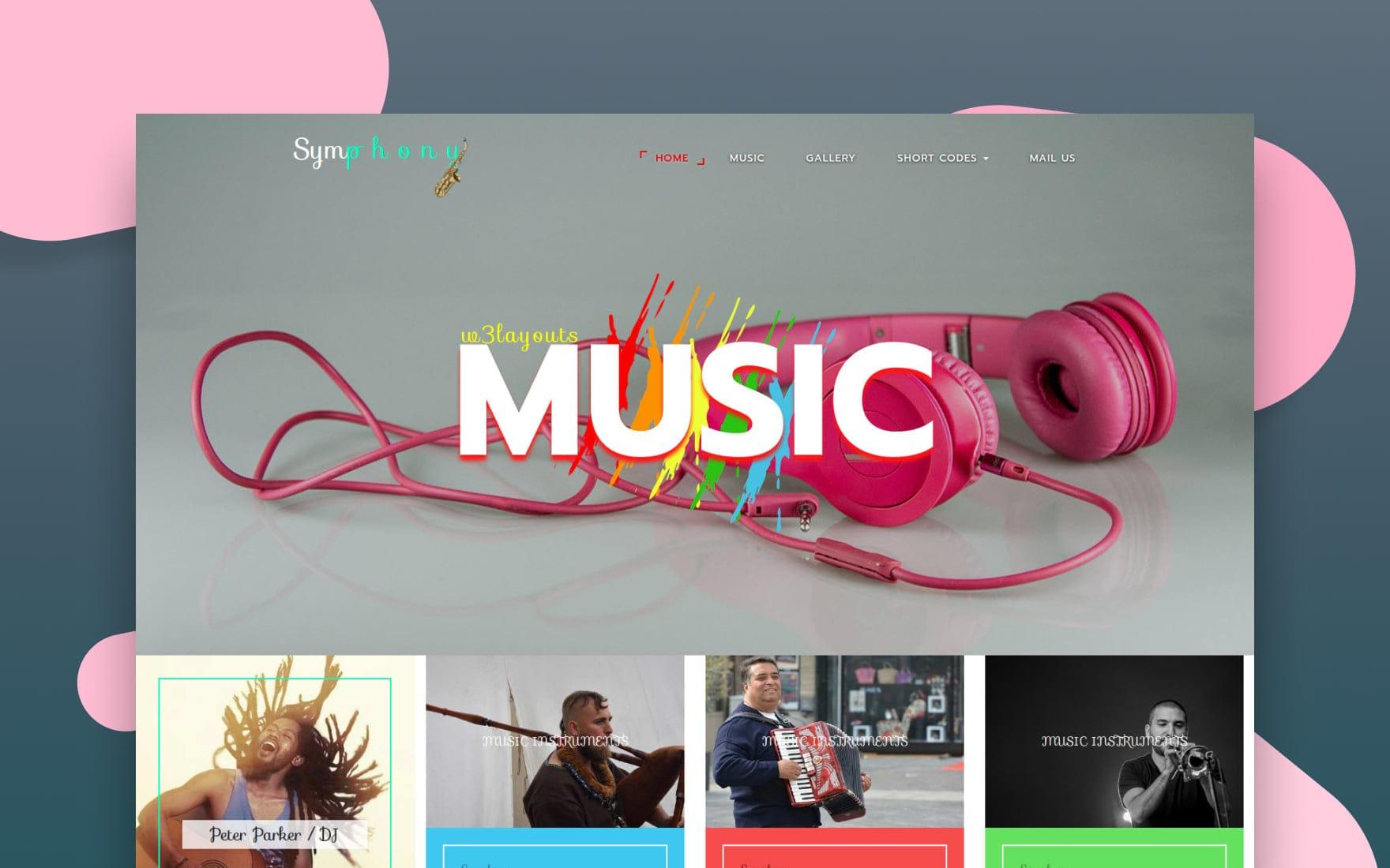 Symphony an Entertainment Flat Bootstrap Responsive Web Template