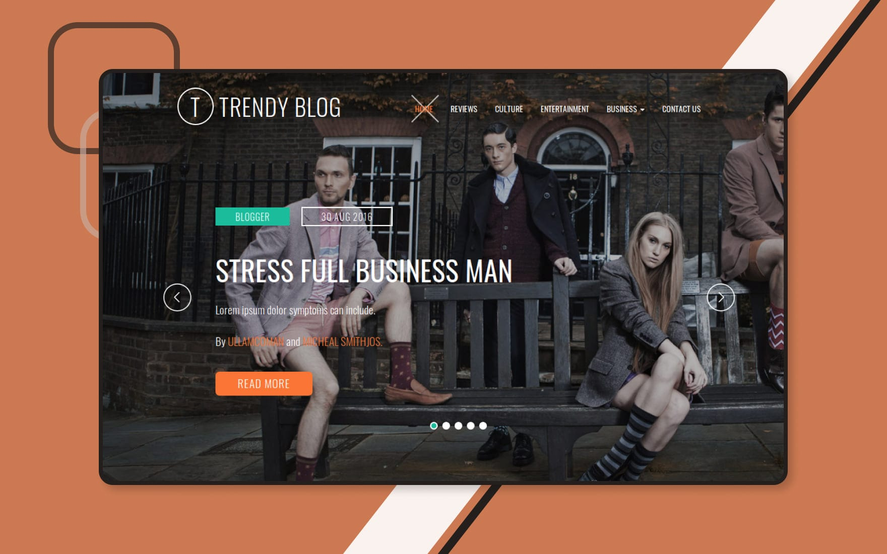 Trendy Blog a Blogging Category Bootstrap Responsive Web Template