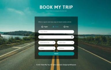 Book My Trip a Flat Responsive Widget Template