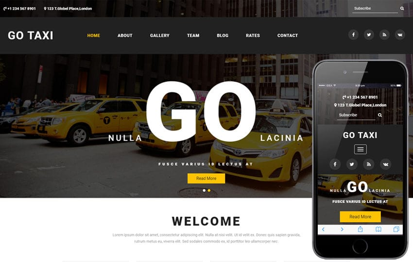 Go Taxi a Travel Category Bootstrap Responsive Web Template