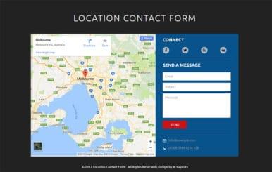 Location Contact Form Flat Responsive Widget Template