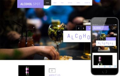 Alcohol Spot a Restaurant Category Bootstrap Responsive Web Template
