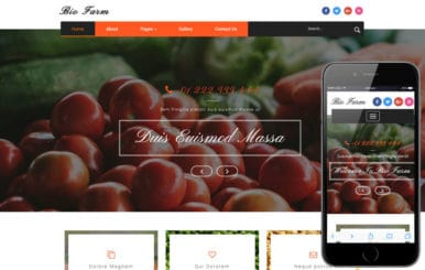 Bio Farm an Agriculture Category Bootstrap Responsive Web Template
