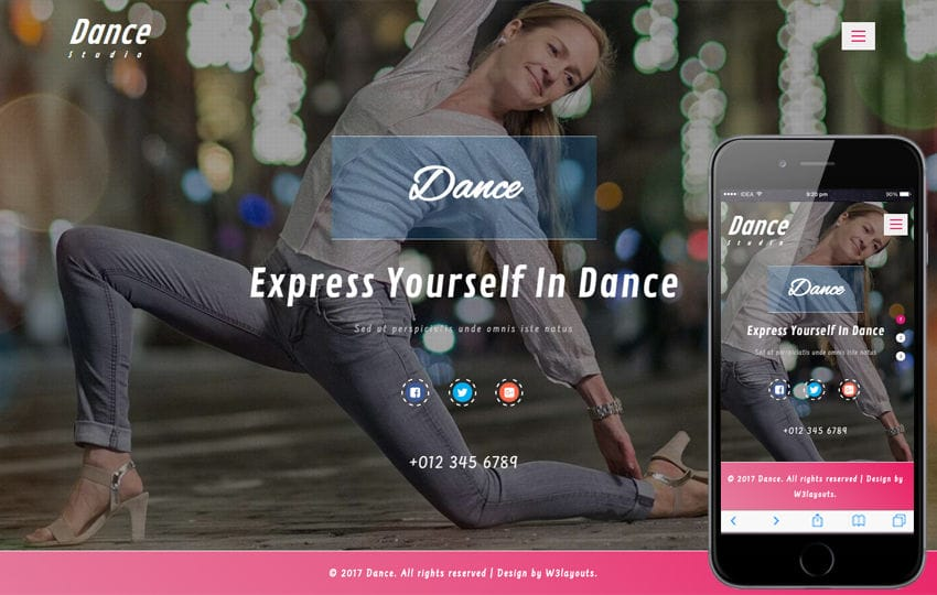 Dance an Entertainment Category Bootstrap Responsive Web Template Mobile website template Free