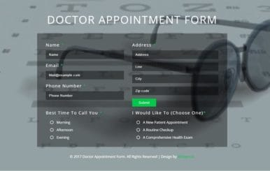 Doctor Appointment Form Flat Responsive Widget Template