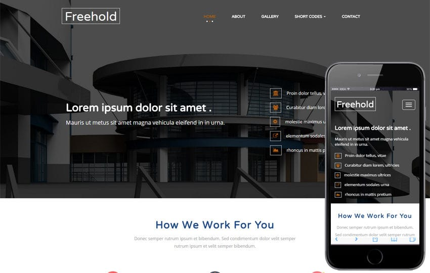 Freehold a Real Estate Category Flat Bootstrap Responsive Web Template Mobile website template Free