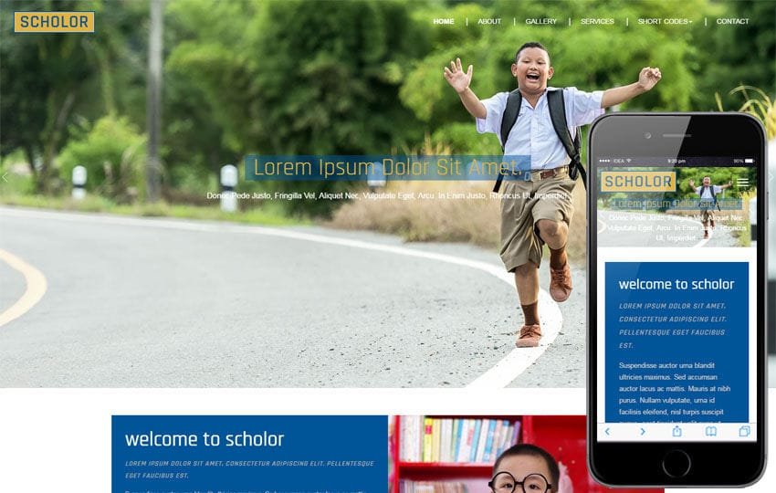 Scholar an Education Category Flat Bootstrap Responsive Web Template Mobile website template Free