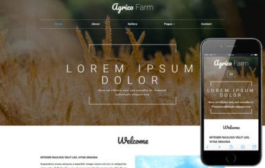 Agrico Farm an Agriculture Category Bootstrap Responsive Web Template