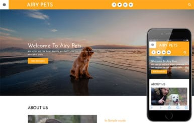 Airy Pets an animals Category Bootstrap Responsive Web Template